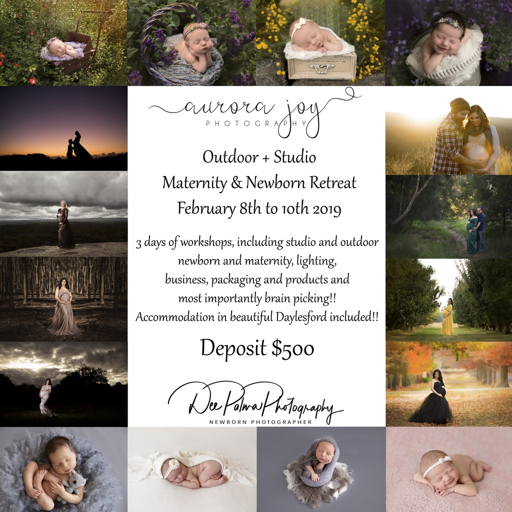 Are you a maternity and newborn photographer who is looking for a workshop that will blow your mind are you wanting to develop your skills and